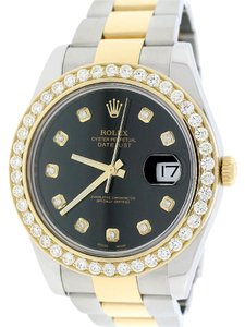 Rolex Rolex Datejust II 2-Tone 41MM Oyster 116333 w/Diamond Dial & 4CT Bezel