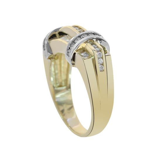 Avital & Co Jewelry 1.15ct Round Baguette Cut Diamonds Men's Ring 14K Two Tone Gold Image 1
