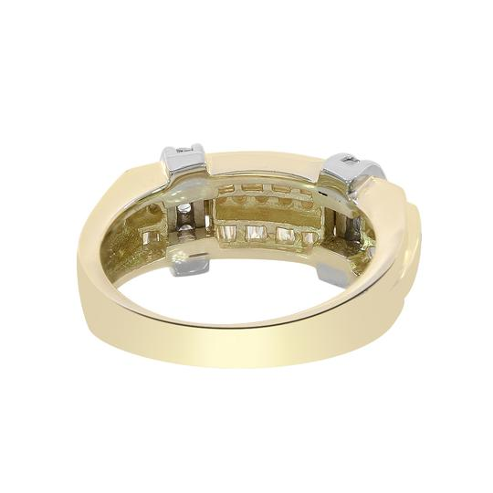 Avital & Co Jewelry 1.15ct Round Baguette Cut Diamonds Men's Ring 14K Two Tone Gold Image 2