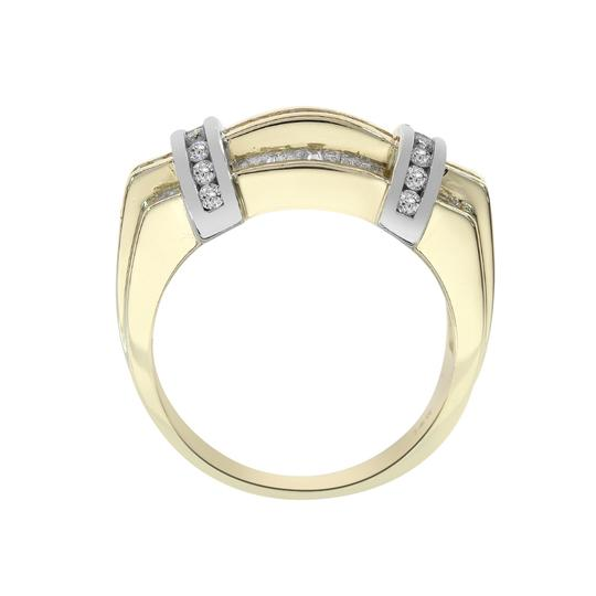Avital & Co Jewelry 1.15ct Round Baguette Cut Diamonds Men's Ring 14K Two Tone Gold Image 3
