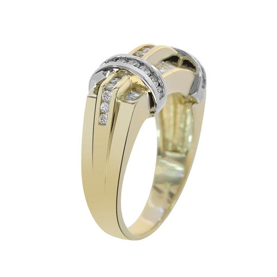 Avital & Co Jewelry 1.15ct Round Baguette Cut Diamonds Men's Ring 14K Two Tone Gold Image 4