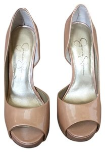 Jessica Simpson Nude / Pale Blush Platforms