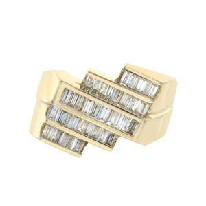 Avital & Co Jewelry 1.25ct Baguette Cut Diamonds Channel Setting Mans Ring 14K Yellow Gold