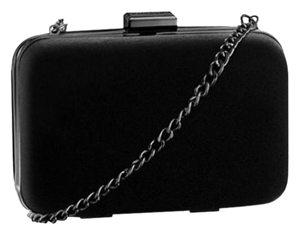 22265dce6b3 Giorgio Armani Parfums Black Leather Clutch - Tradesy