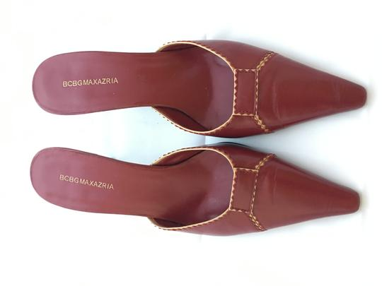 BCBGMAXAZRIA Bcbg Leather Leather Leather Red Mules Image 3