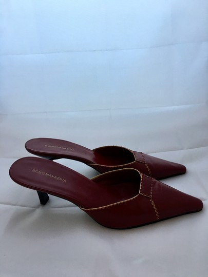 BCBGMAXAZRIA Bcbg Leather Leather Leather Red Mules Image 7