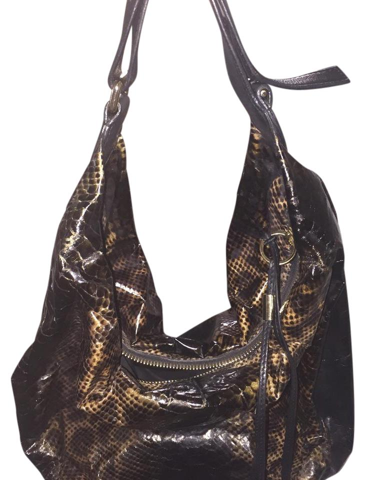 c83d1878a5 Jimmy Choo Purse Brown with Snake Embossed Hobo Bag - Tradesy