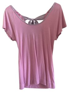 C&C California Bow Back Tops Bow Back Bow Detail T Shirt Pink / Lavender