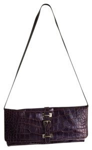 Claudia Firenze Leather Clutch Croc Shoulder Bag