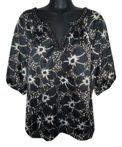 East 5th Essentials Smocked Luxe Spring Fall Formal Top Black
