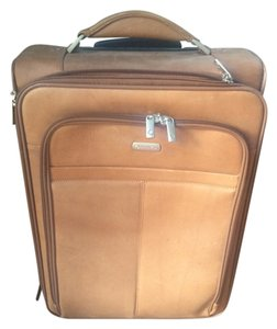 Franklin Covey Leather New Computer Case Luggage Brown Travel Bag