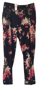 Ann Taylor LOFT New With Tags Floral Dress Wear To Work Trouser Pants Black