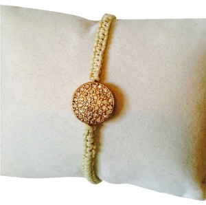 Tai Faceted Crystal Pave' Disc Cord Bracelet