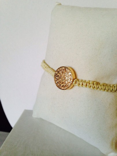 Tai Faceted Crystal Pave' Disc Cord Bracelet Image 1