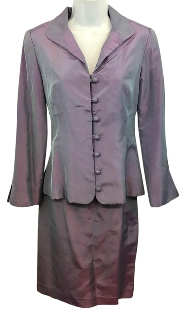 Item - Sabine Made In France Iridescent Purple 36 Skirt Suit Size 6 (S)