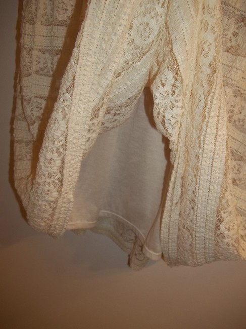 Max Studio short dress Cream Lace Strappy Detail Stretchy on Tradesy Image 3