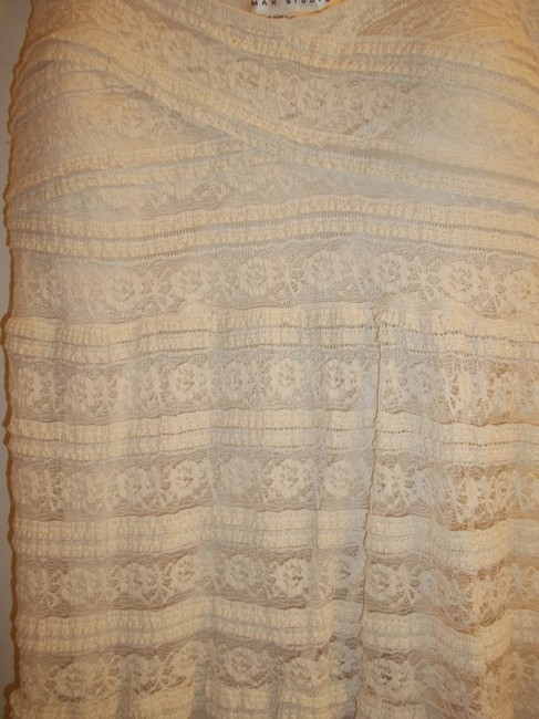 Max Studio short dress Cream Lace Strappy Detail Stretchy on Tradesy Image 4