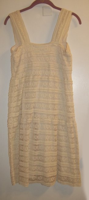 Max Studio short dress Cream Lace Strappy Detail Stretchy on Tradesy Image 5