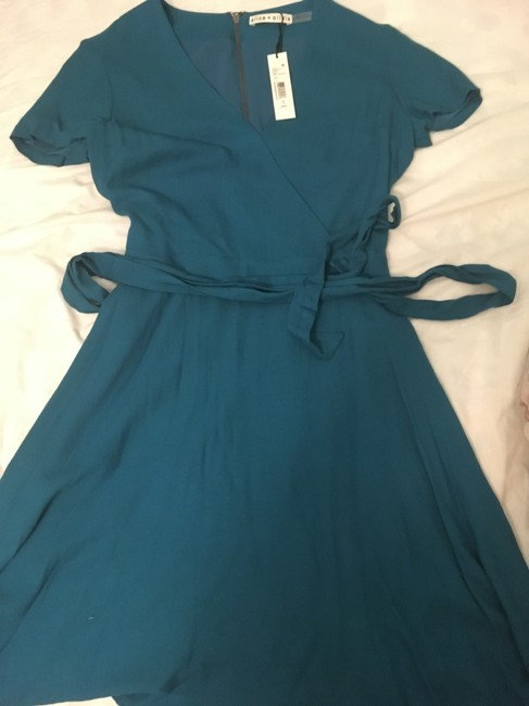 Alice + Olivia short dress Dark Turquoise A-line Career Summer on Tradesy Image 4