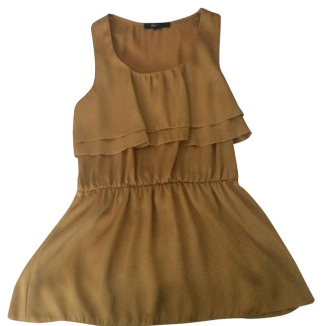 Forever 21 Ruffles Top Yellow/Gold