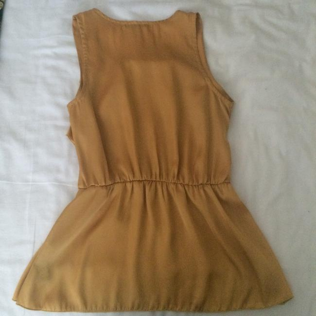 Forever 21 Ruffles Top Yellow/Gold Image 1