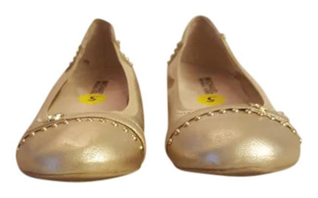 Item - Gold Mauriza with Studs Flats Size US 5 Regular (M, B)