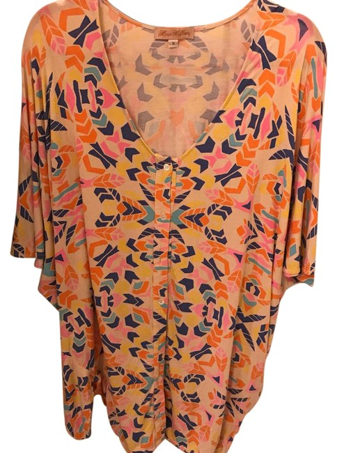 Item - Multicolor Button Dress Or Cover-up/Sarong Size 4 (S)