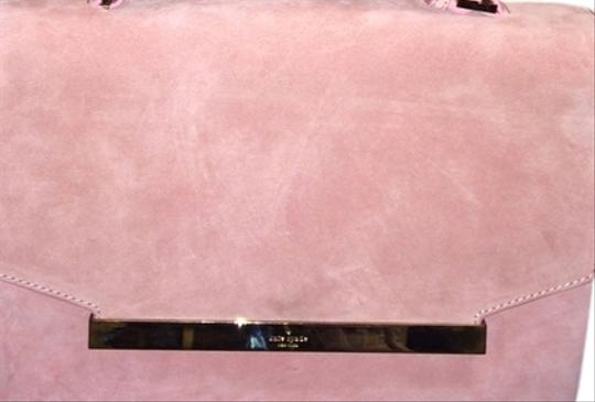 Kate Spade Suede Leather Summer Spring Crossbody Satchel in Cherry Blossom