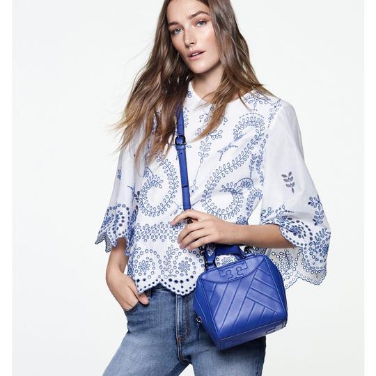 Tory Burch Satchel in songbird blue Image 1