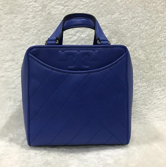 Tory Burch Satchel in songbird blue Image 2
