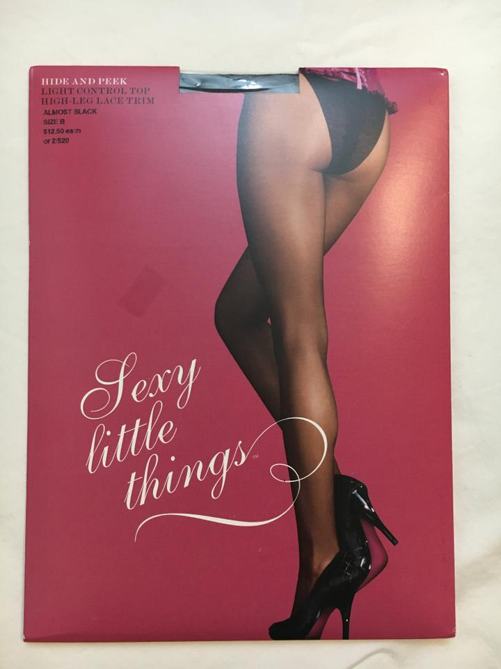 7630cf46d49 Victoria s Secret Black Sexy Little Things Lot 6 Size B Stockings ...