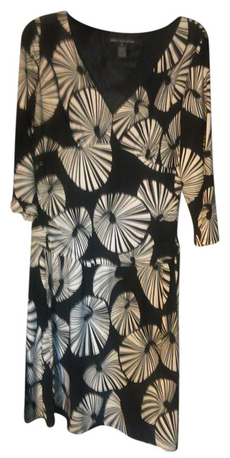 Item - Multicolor Printed Mid-length Short Casual Dress Size 14 (L)