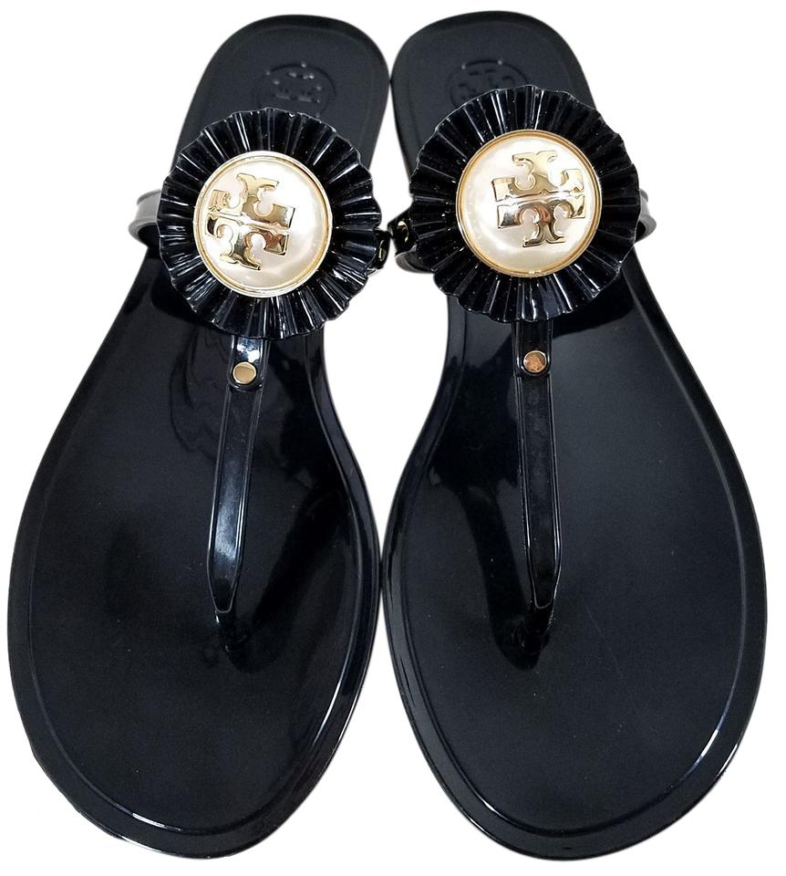 b09e5d01f950 Tory Burch Black Melody Sandals Size US 8 Regular (M