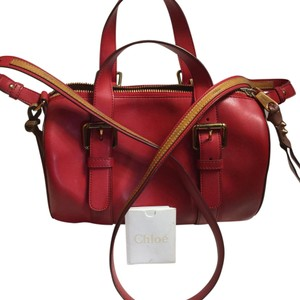 Chloé Satchel in Holly Berry