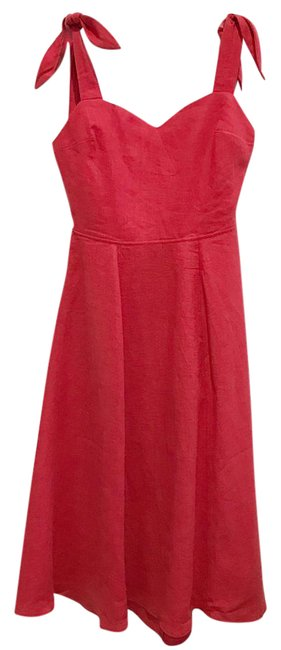 Item - Red Bloody Mary Montclair Linen Long Short Casual Dress Size 6 (S)