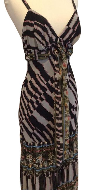 Item - Black White Red Bohemian Long Night Out Dress Size 6 (S)
