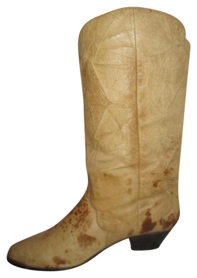 Dingo Leather Tan & Brown Vintage Leather Dingo Western Boots/Booties b2b0c1