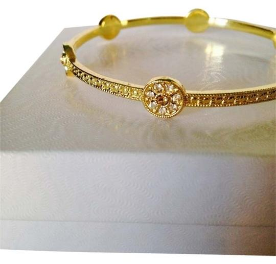 Other White & Champagne Crystal Pave' Bangle Beacelet Image 0