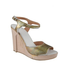 Maison Margiela Gold Wedges