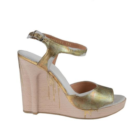 Maison Margiela Gold Wedges Image 1