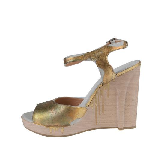 Maison Margiela Gold Wedges Image 2