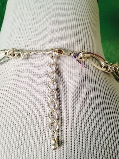 Other Matt Silver-Tone Double Row Chain & Link Necklace Image 4