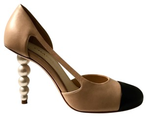 Chanel Tan,black Pumps