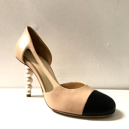 Chanel Tan,black Pumps Image 1