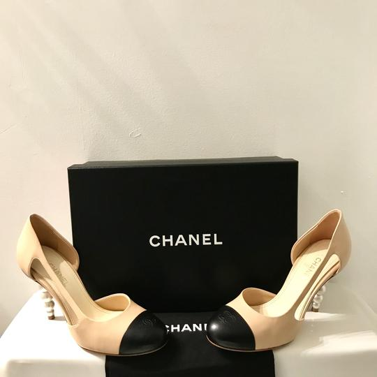 Chanel Tan,black Pumps Image 2