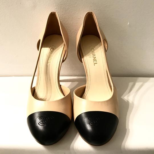 Chanel Tan,black Pumps Image 3