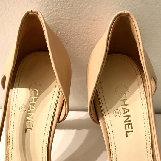 Chanel Tan,black Pumps Image 4