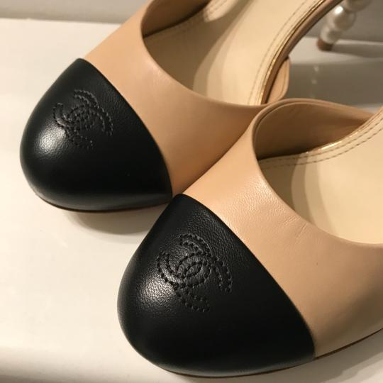 Chanel Tan,black Pumps Image 5