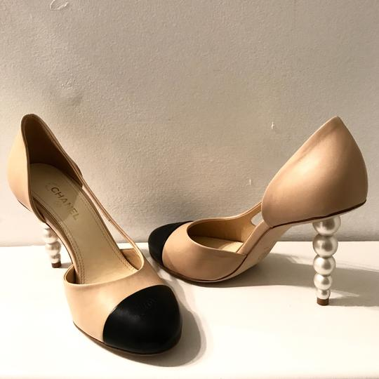 Chanel Tan,black Pumps Image 8