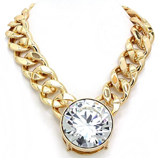 Preload https://item2.tradesy.com/images/gold-tone-clear-crystal-chunky-statement-charm-chain-necklace-2160591-0-0.jpg?width=440&height=440